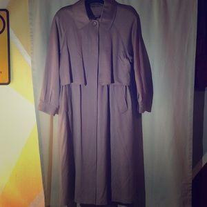 Cashmere Trench Coat, color mauve